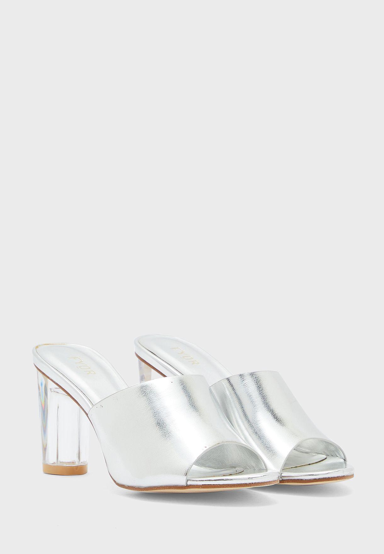 Mule Low Heel Sandals