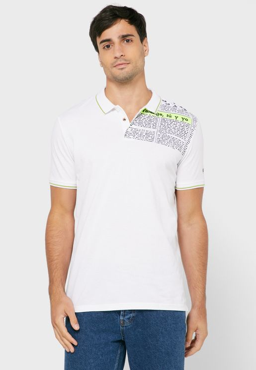 Typography Printed Polo