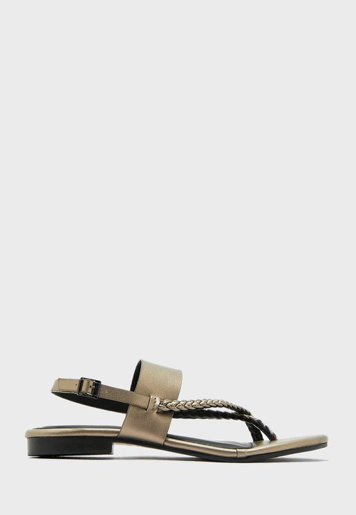 Casual Buckle Flat Sandals