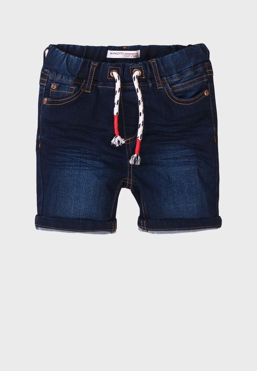 Teen Basic Knitted Denim Shorts