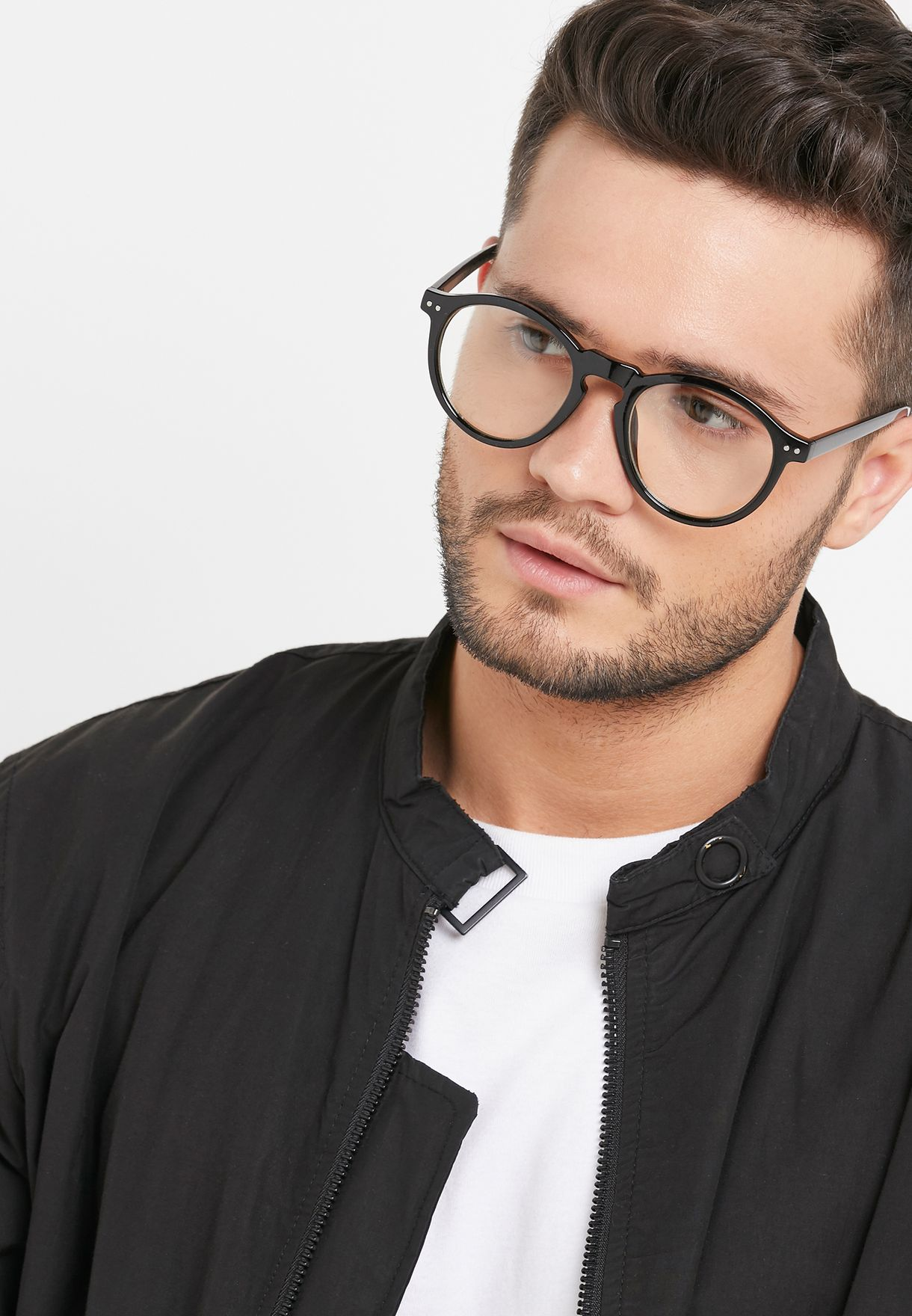 Round clear lens Sunglasses