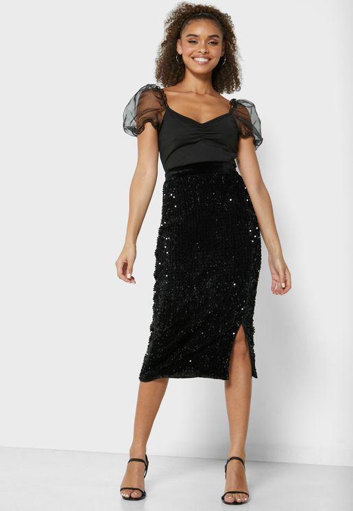 Sparkle Midi Skirt