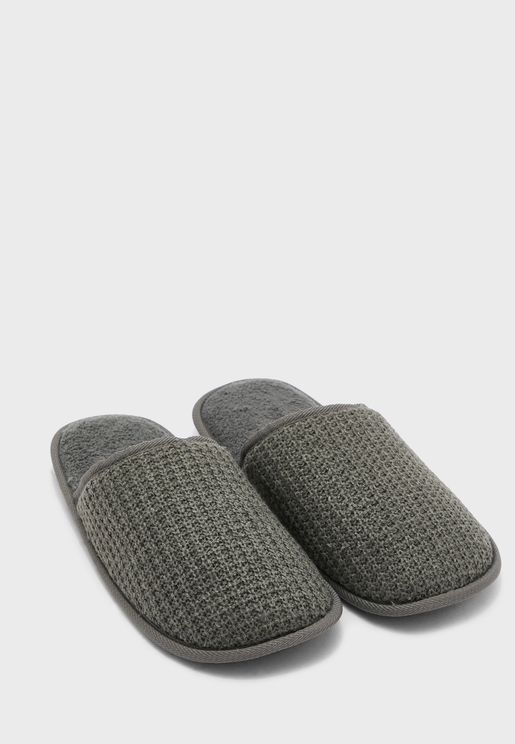 Mens Waffle Bedroom Slippers