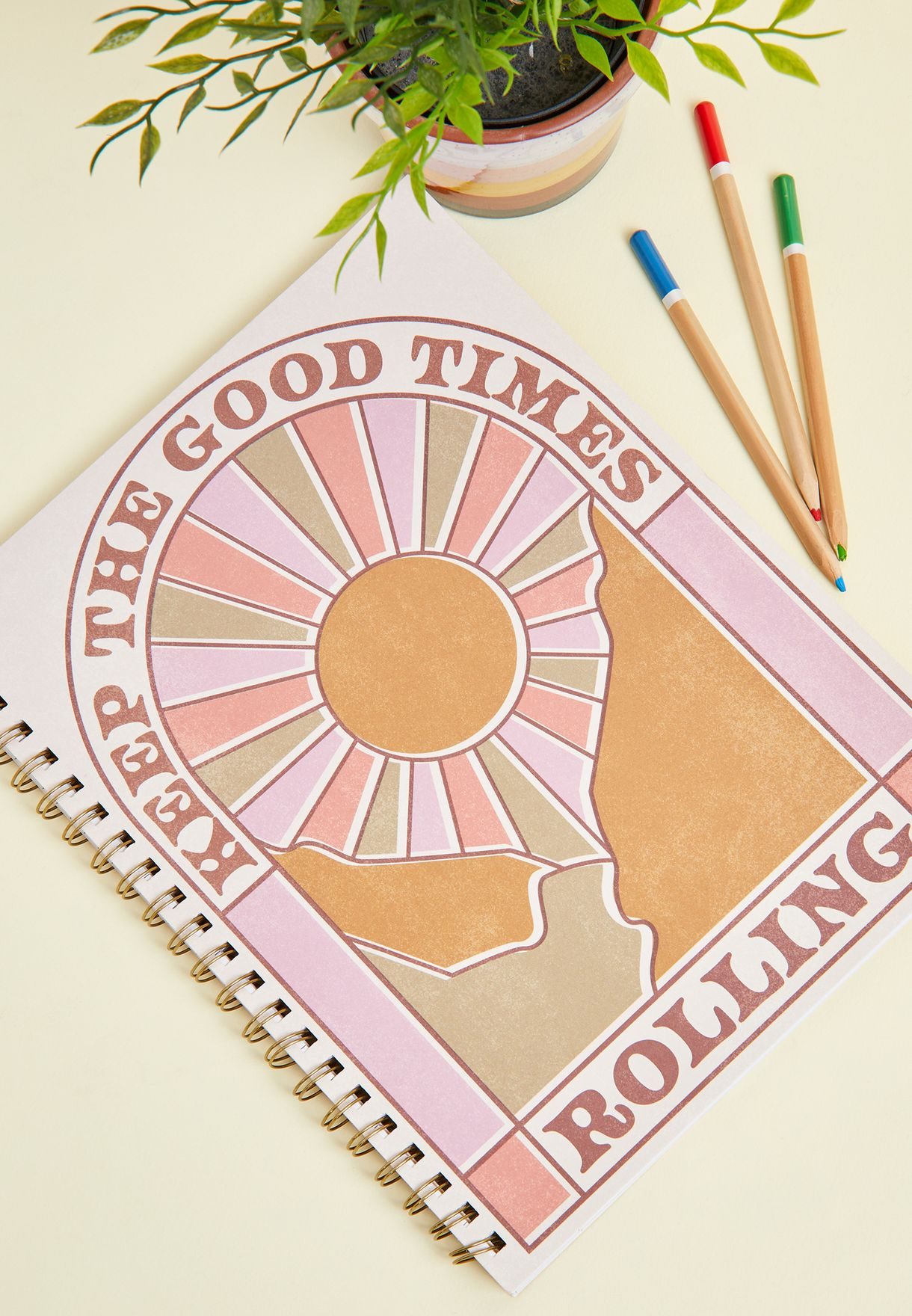 A4 Good Time Rolling Campus Notebook