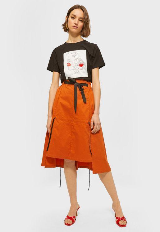 High Low Skater Skirt