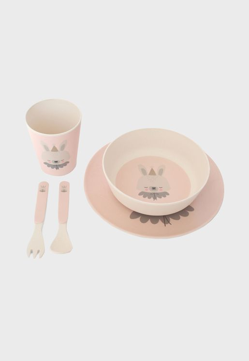 Bamboo Circus Bunny Eco Dinner Set
