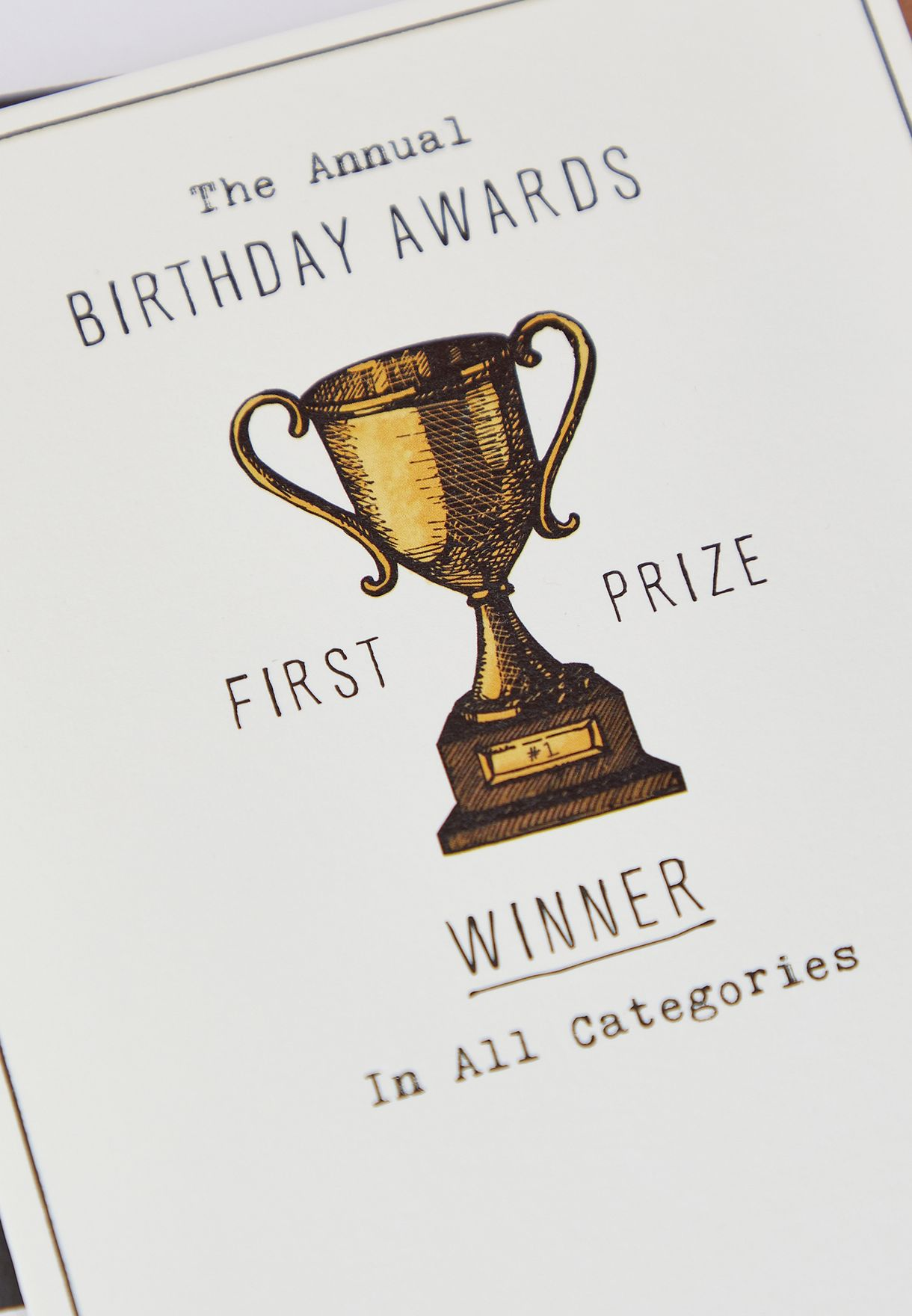 Annual Birthday Awards Card