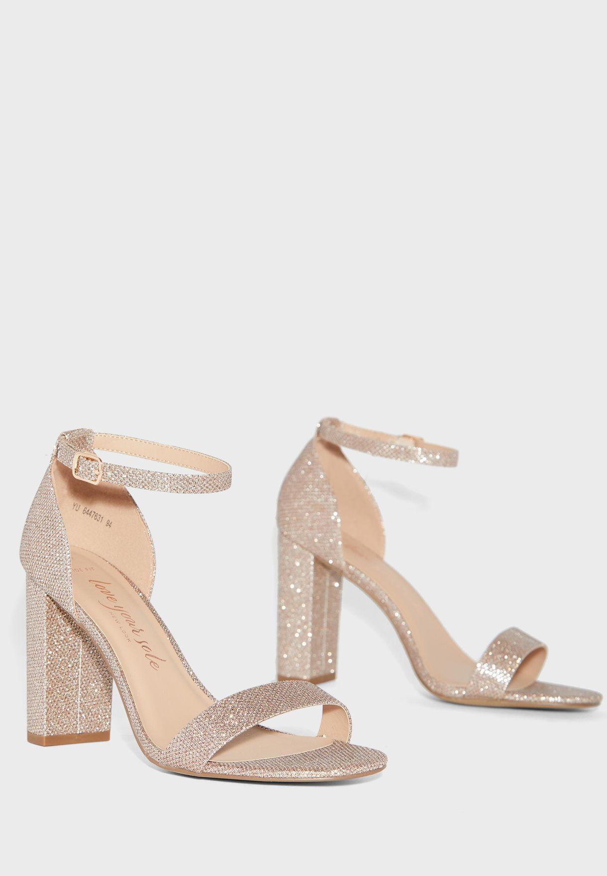 glitter sandals wide fit