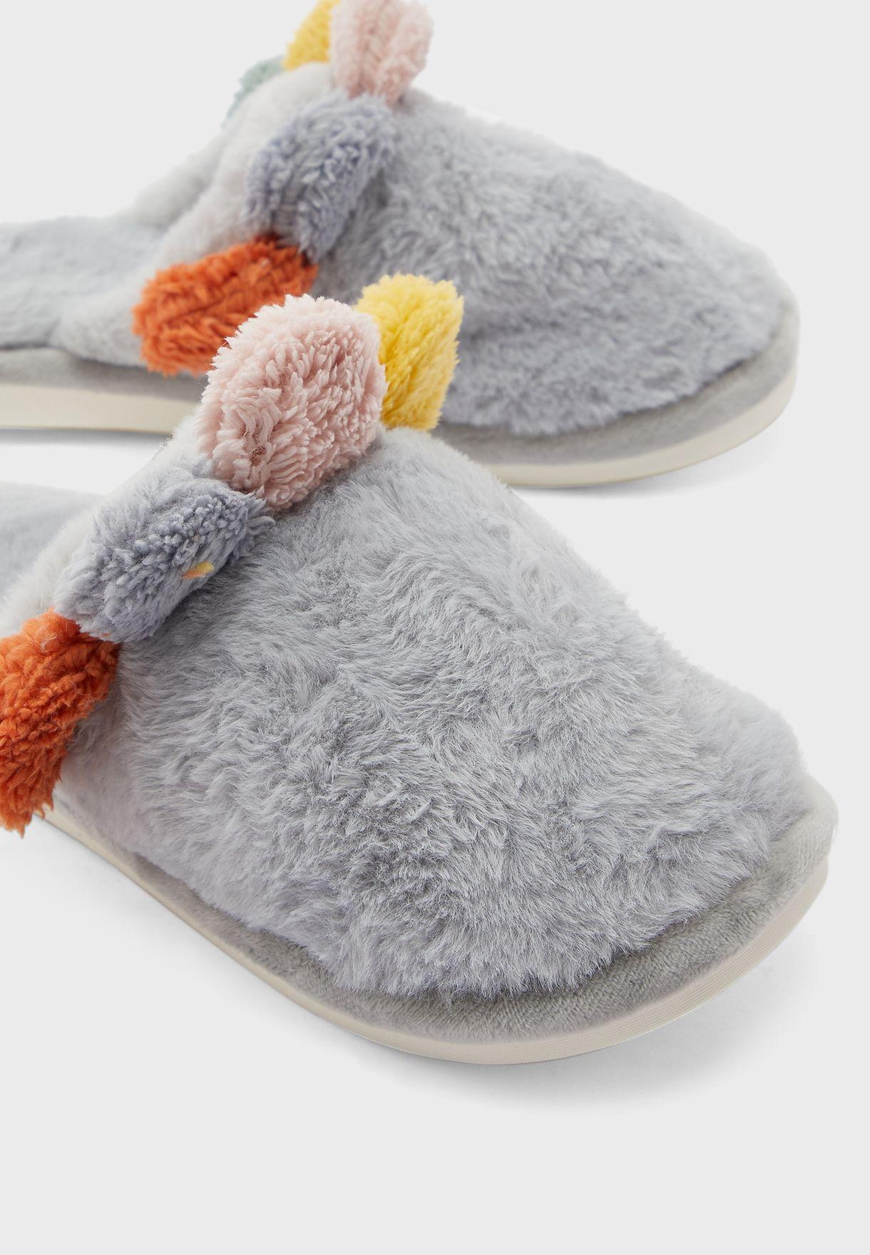 Pom Pom Bedroom Slippers