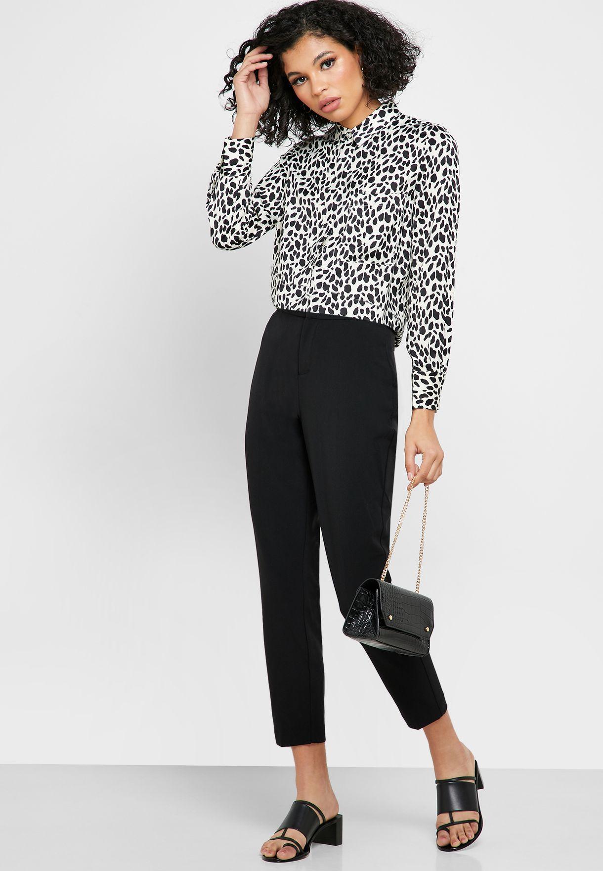Leopard Print Waist Band Pants