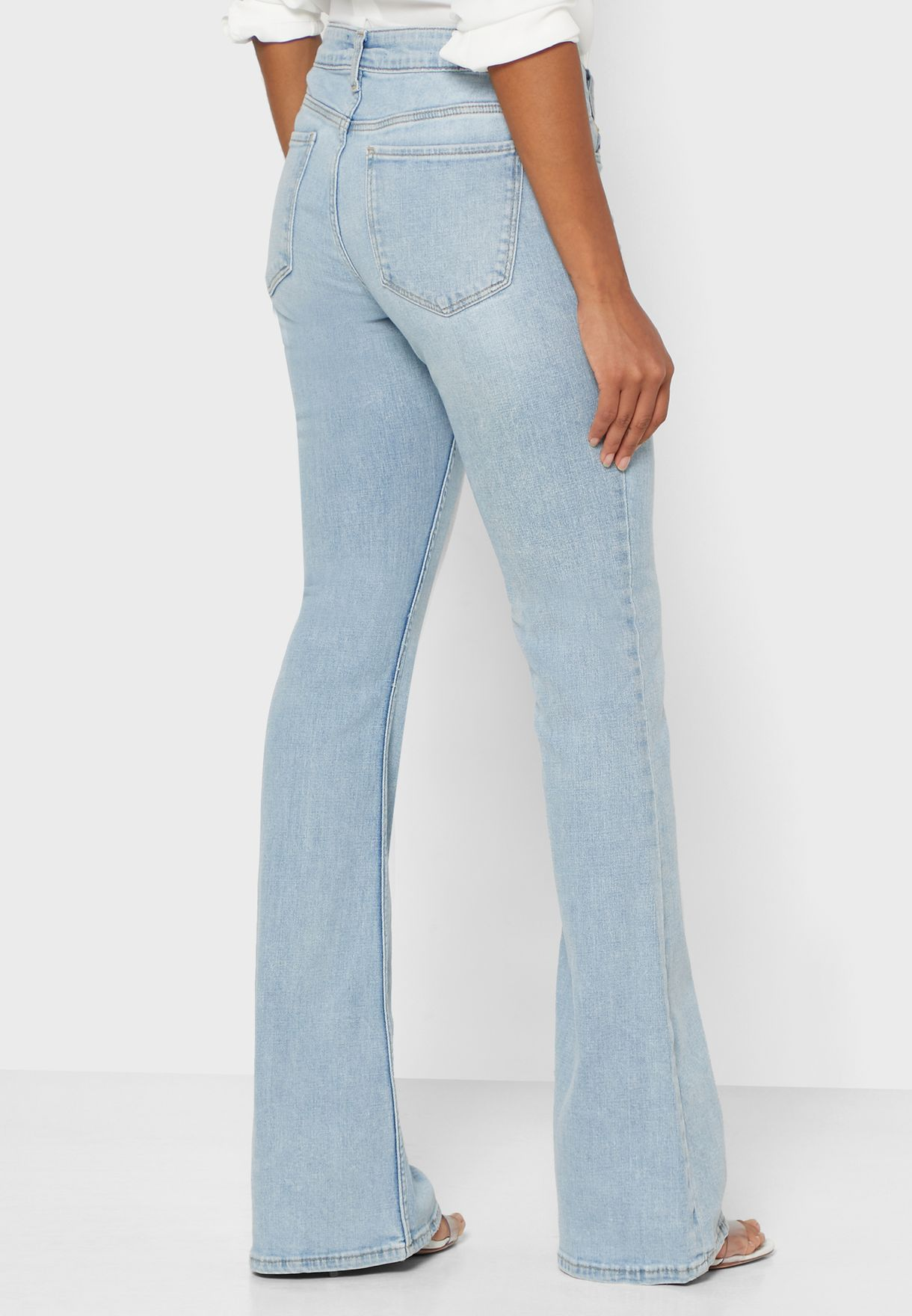 Buy Mango Blue Flared Jeans For Women, Uae 18840at91twp