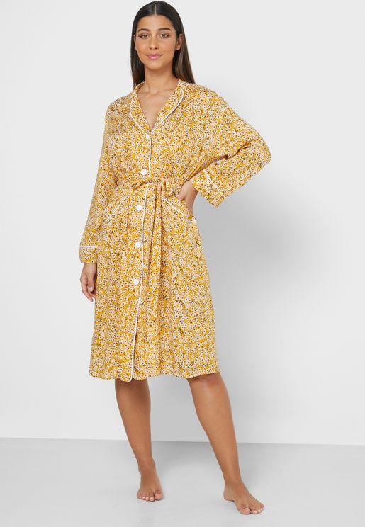Floral Print Swing Shirt Nightdress