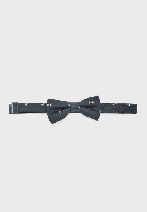 Kids Dog Print Bow Tie