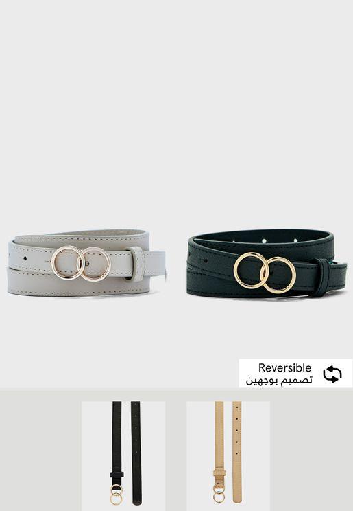 Set Of 2 Circle Belts