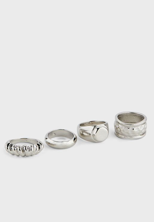 4 Pack Chunky Rings