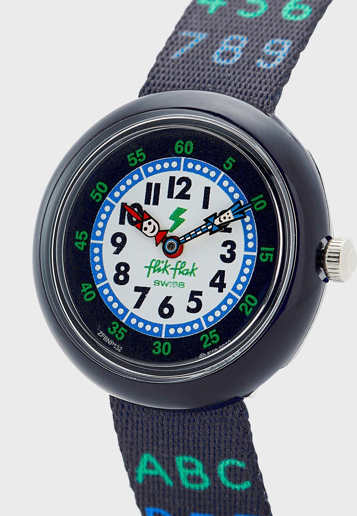 Kids Alphanumeric Print Watch