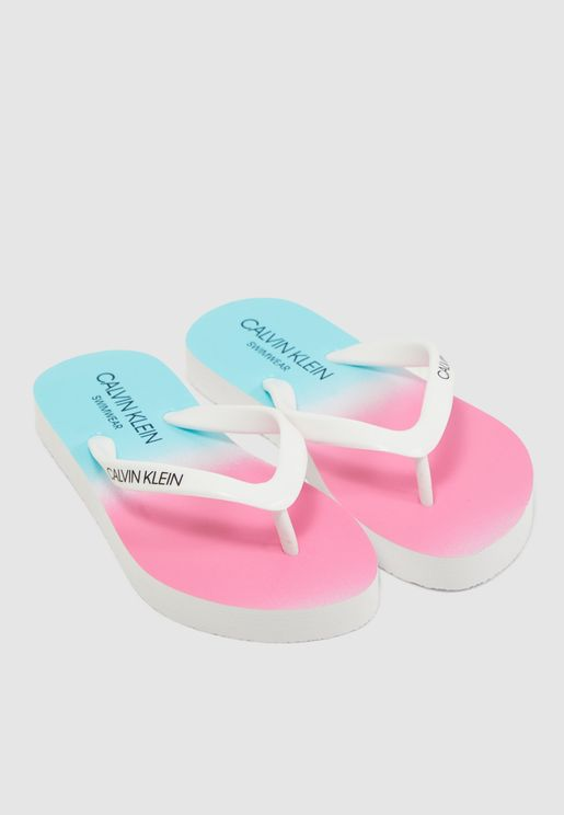 Youth Color Block Slippers
