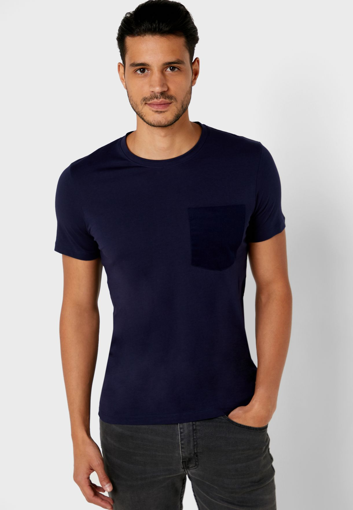 Vance Pocket Detail Crew-Neck T-Shirt