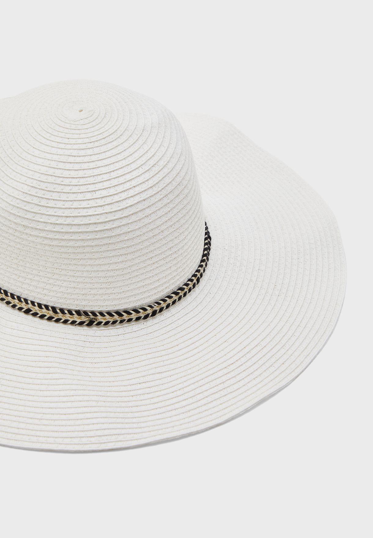 Ribbon Detail Floppy Hat