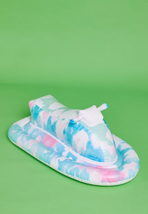 Kids Tie Dye Inflatable Jet Ski Pool Float