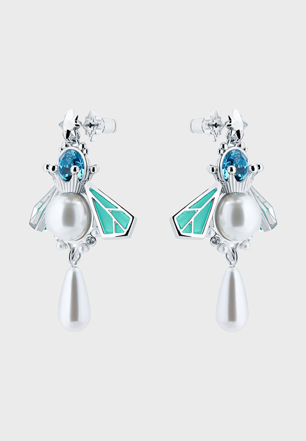 Queen Bee Pearl Drop Earrings