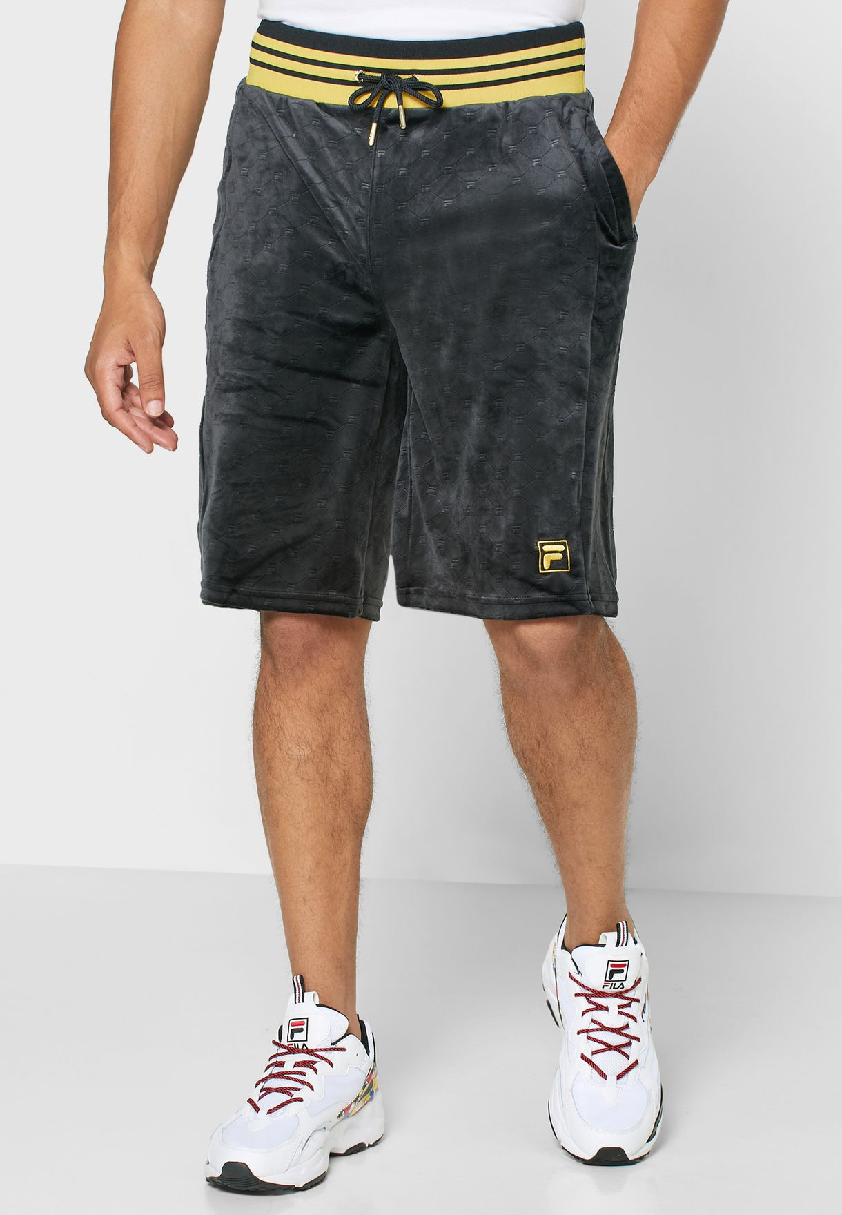Emery Velour Embossed Shorts