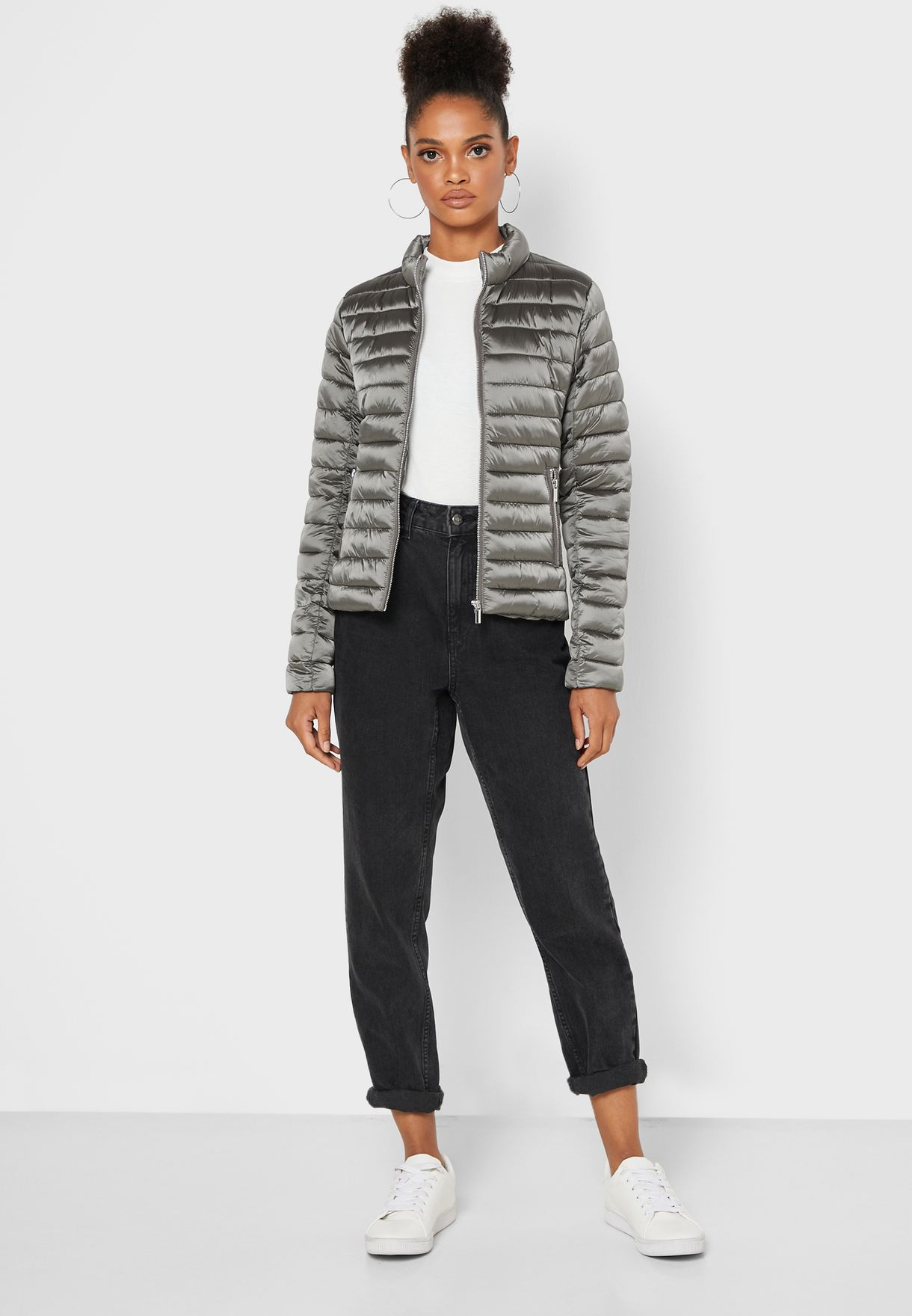 Zip Through Puffer Jacket