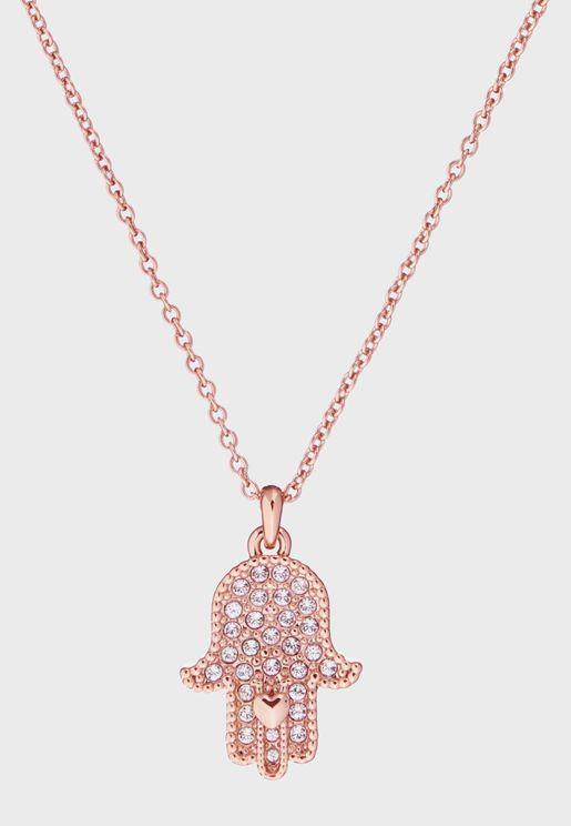 Hensa Hidden Heart Hand Pendant Necklace