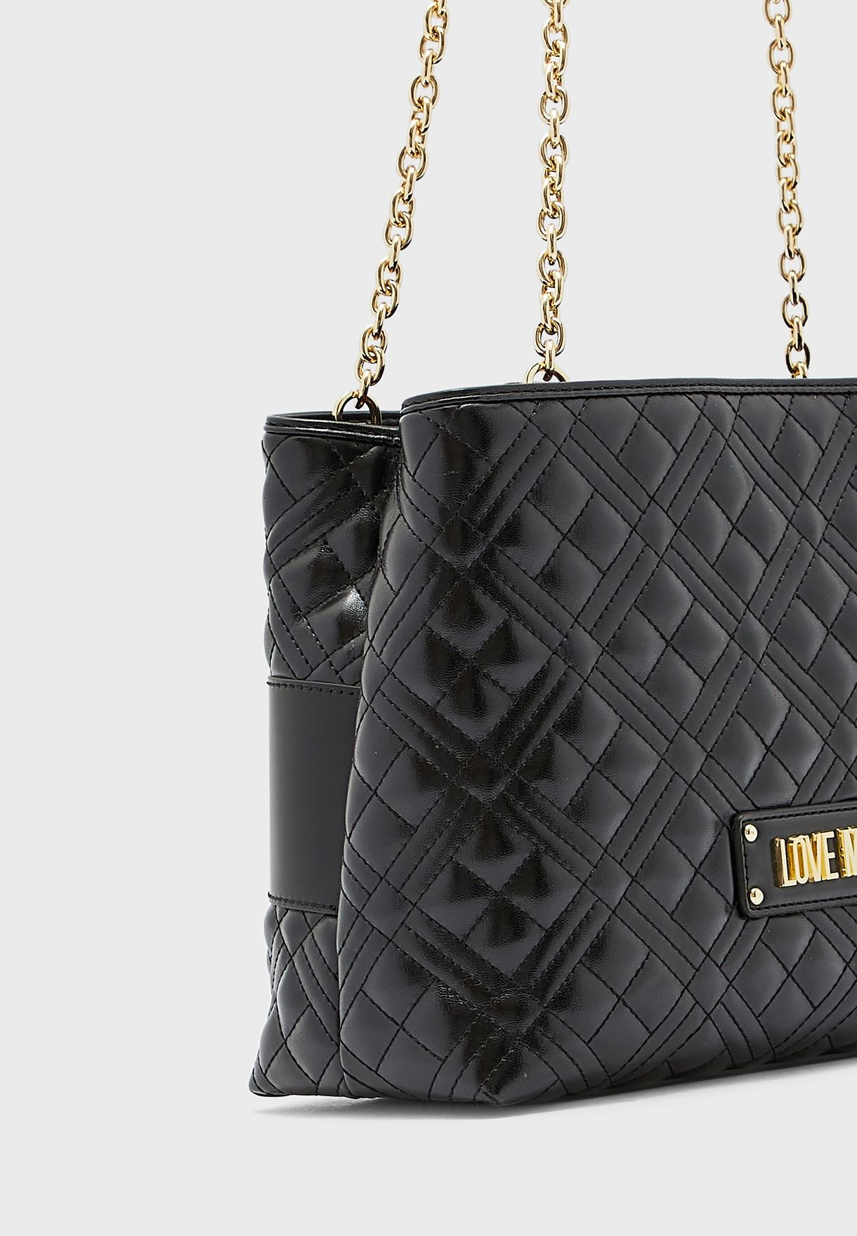 Chain Link Quilted Tote