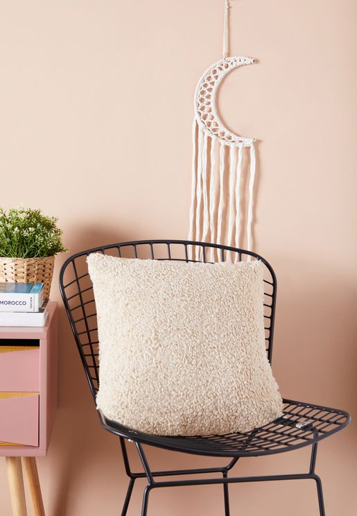 Cream Sheep Wool Cushion 45*45