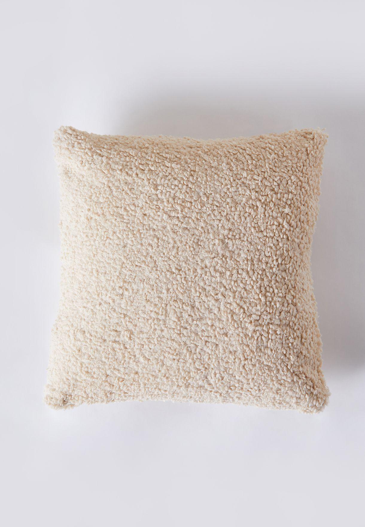 Cream Sheep Wool Cushion 45*45