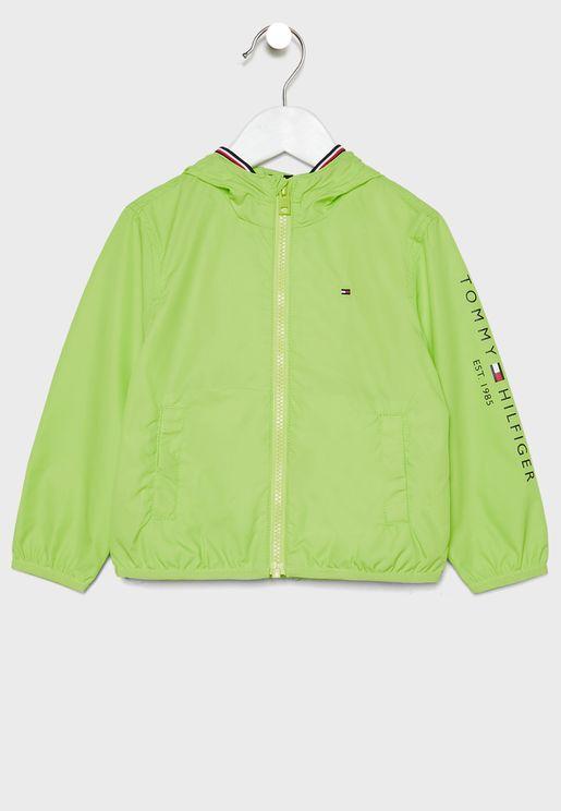 Kids Essential Hooded Jacket