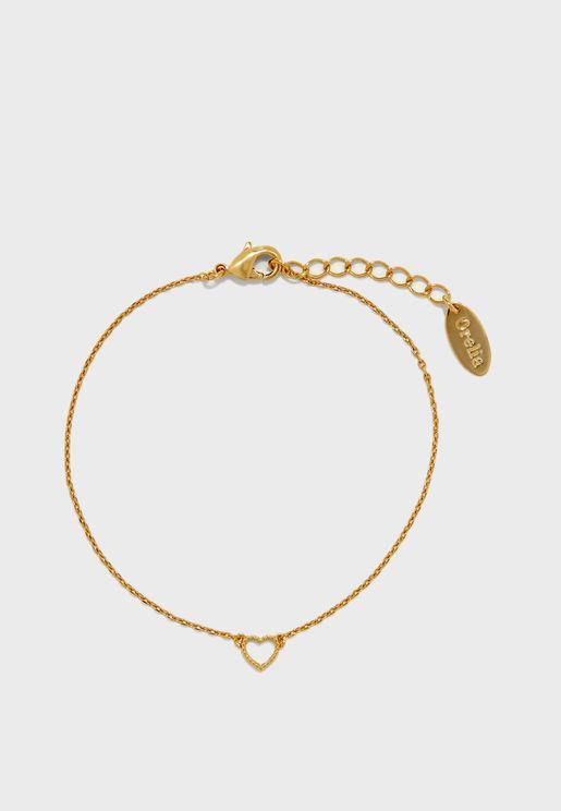 Tiny Open Heart Bracelet