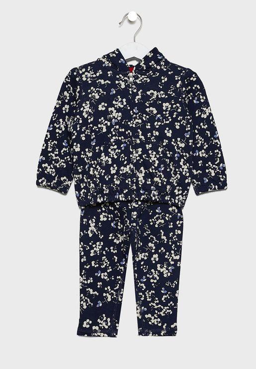 Infant Printed Hoodie + Pajama Set