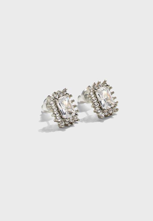 Stud Earrings In Diamante