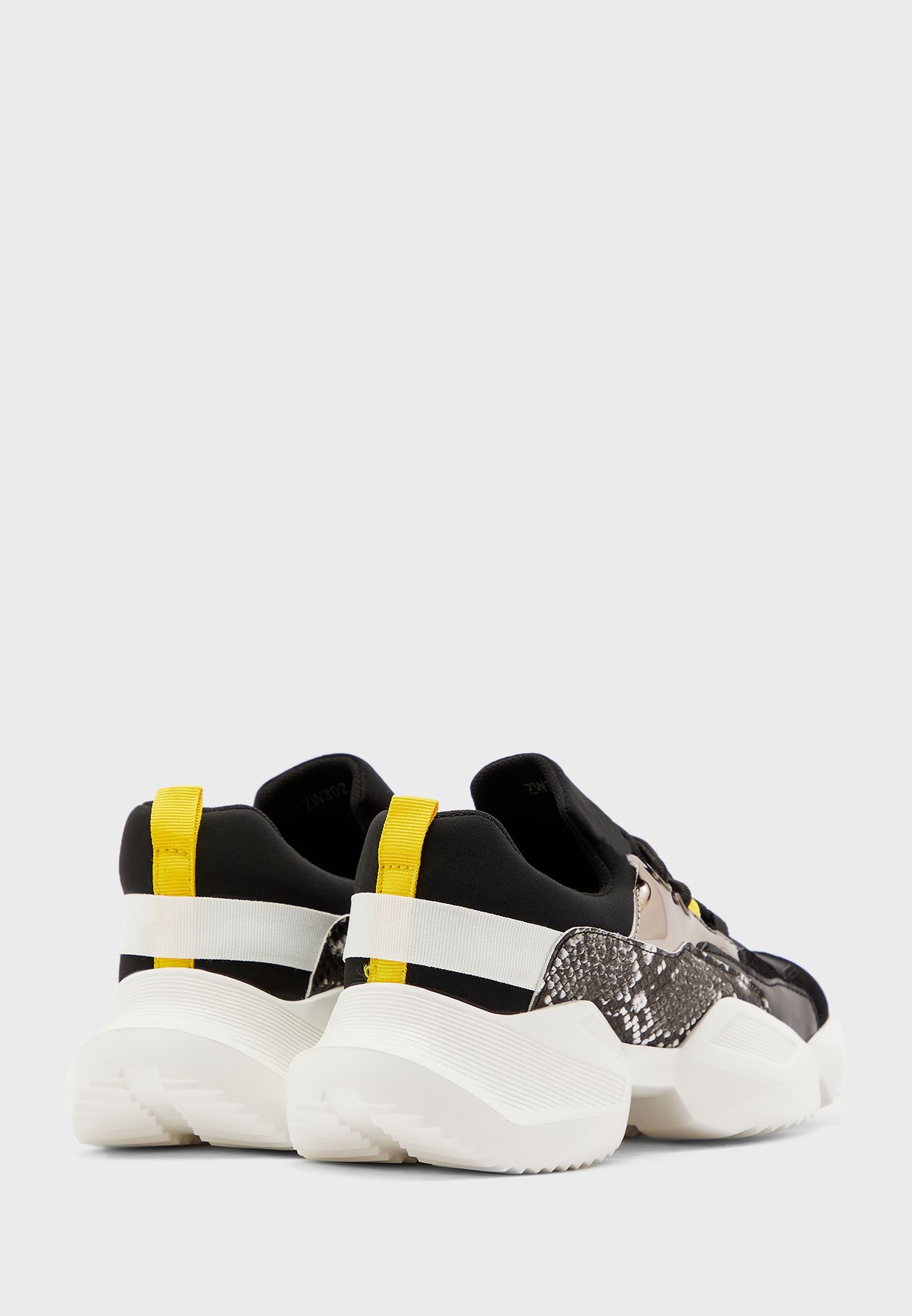 Mix Material Chunky Sneakers