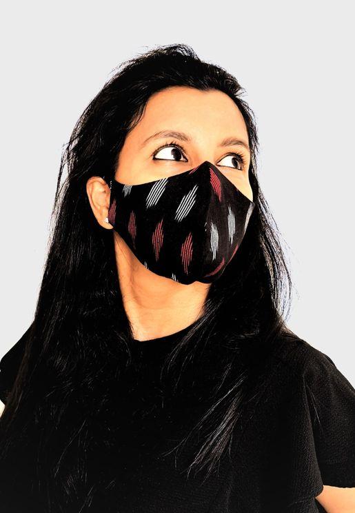 Ikkat Printed Mask