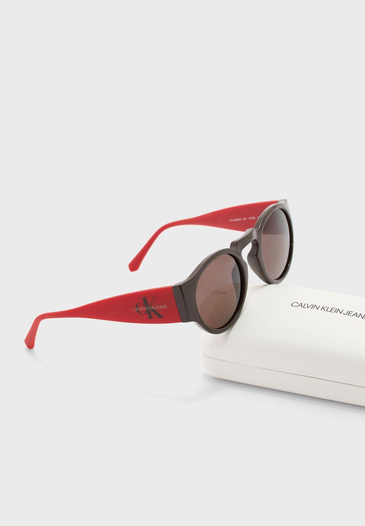 CKJ18500S Round Sunglasses