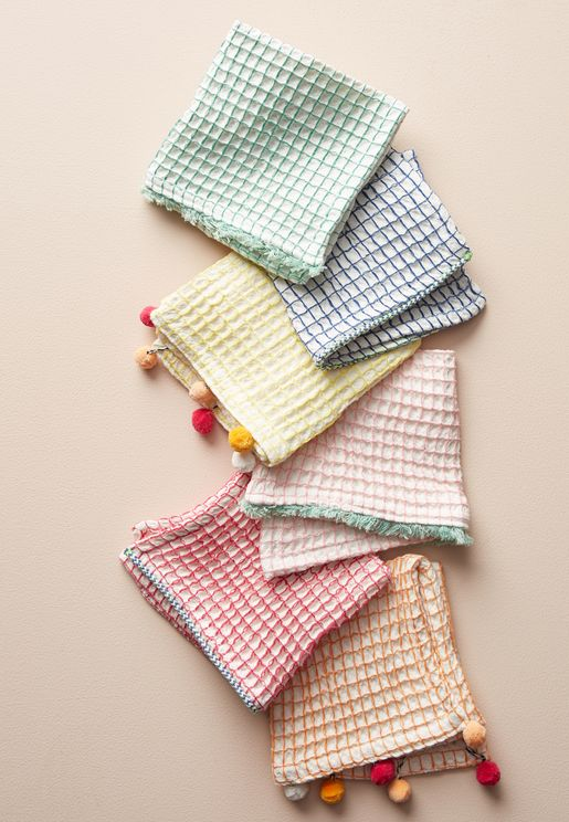 6 Pack Waffle Cone Dish Towel