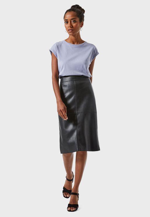 PU Midi Skirt