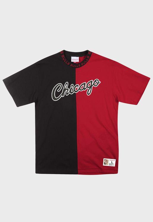 Chicago Bulls Colour Block T-Shirt