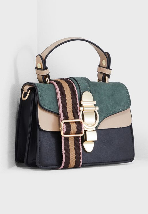Colourblock Design Satchel