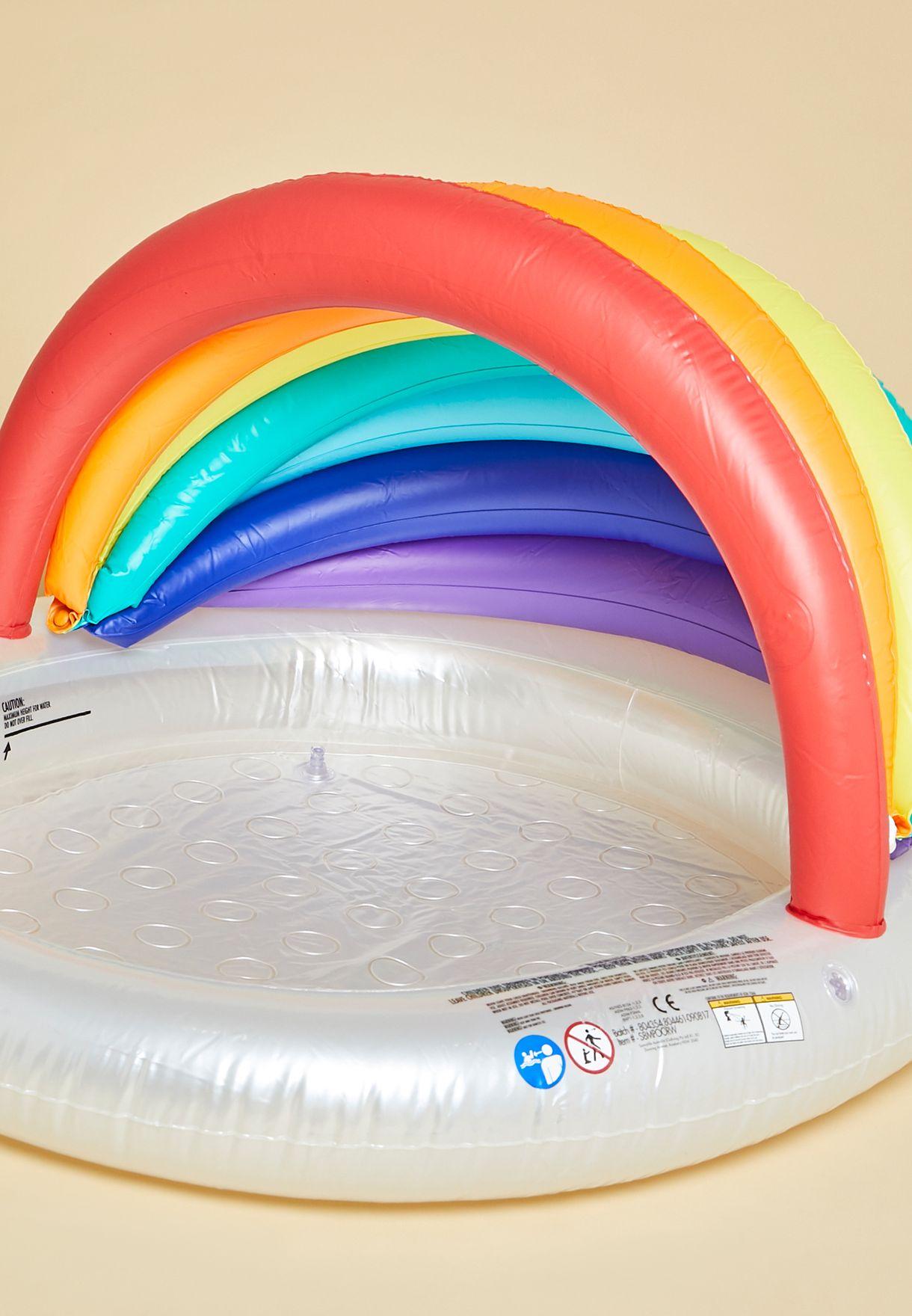 حوض سباحة للاطفال بشكل قوس قزح