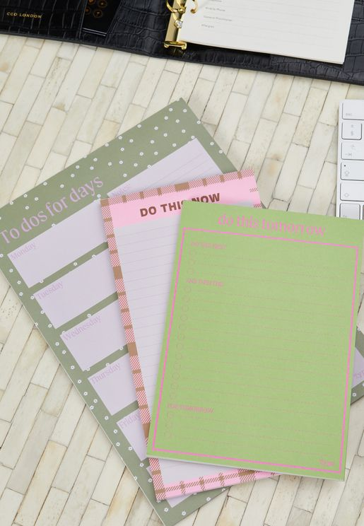 3 Pack Daisy Notepad