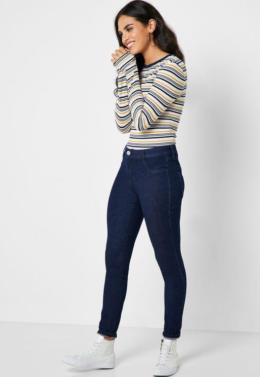 بنطال جينز داكن
