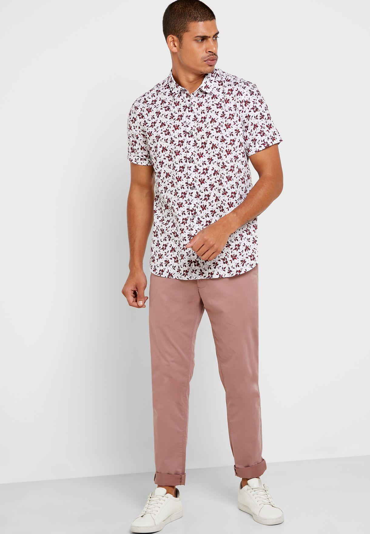 Jasper Leaf Print Shirt