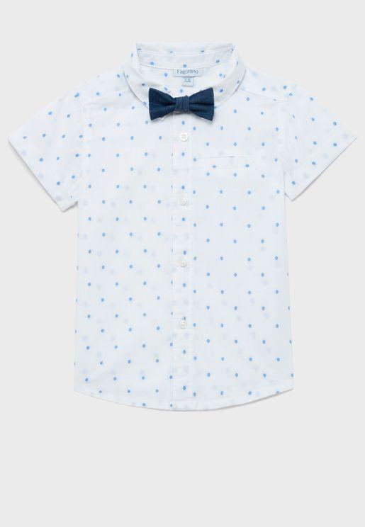 قميص بنقاط بولكا للاطفال