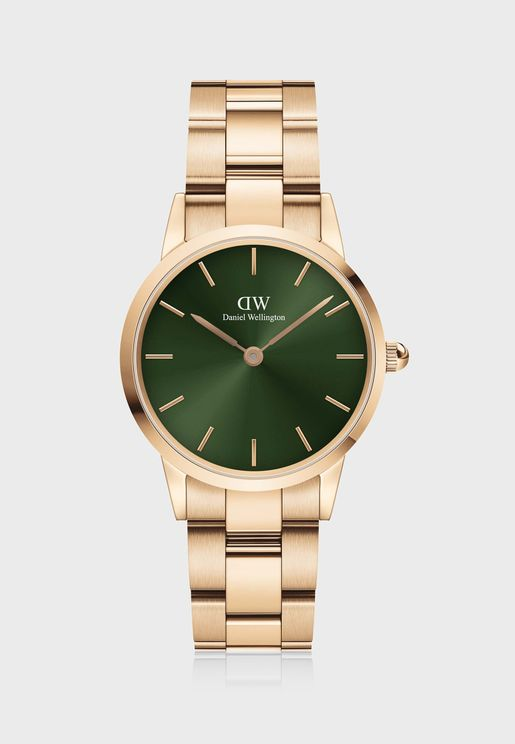 Iconic Link Emerald Rose Gold Watch, 28mm