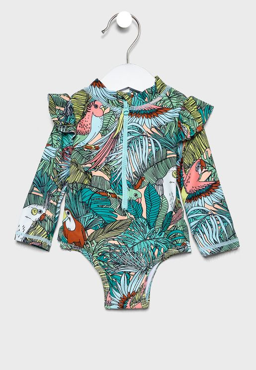 Infant Tropical Bird Party Swimsuit