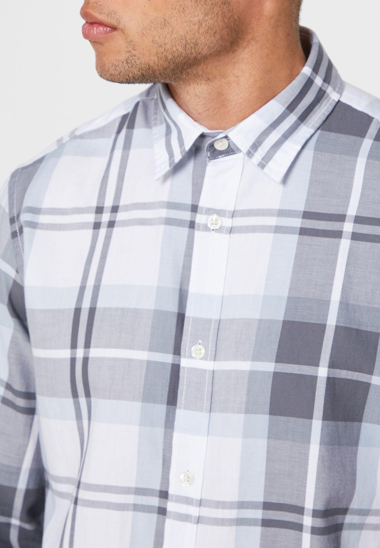 قميص مربعات بقصة سليم فيت